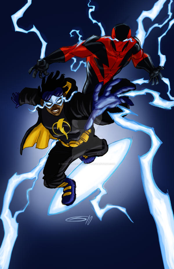 Static and The Bolt by sketchmasterskillz