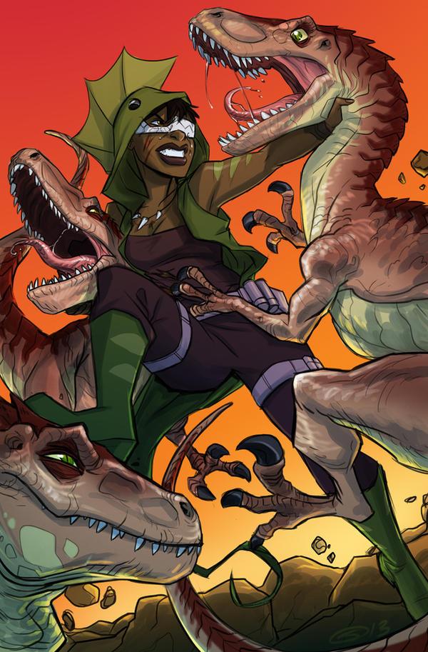 Dinogirl For Kara B by sketchmasterskillz