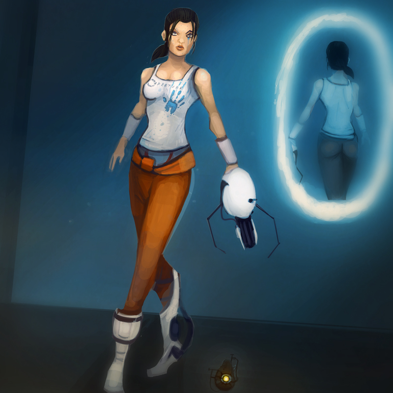 sexy chell porn pic