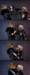 Anders and Fenris cosplay by OvoshPolufabrikat