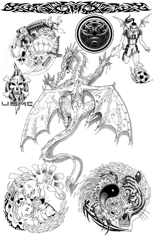 tattoo flash by 8Alpha on