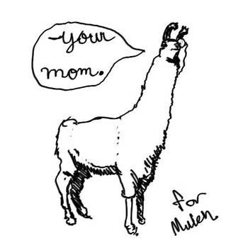 Your Mom, Llama! by ashitaka-sd
