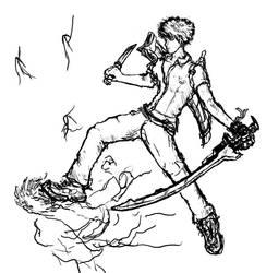 Swordman...having fun here. by ashitaka-sd