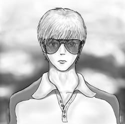 Cool guy...with aviators. by ashitaka-sd