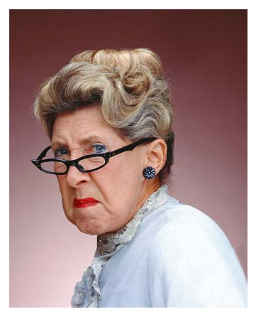 Pastel Old Lady - Original