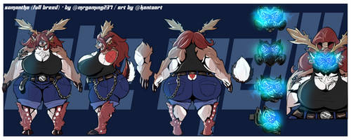 COMMISSION: Full-breed Samantha - Character Sheet by Kanto-Art