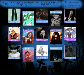 Top 15 Scariest Characters Meme by StellarFairy