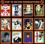 Top 12 Hated Characters Meme