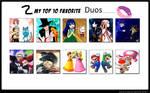 Top Ten Favorite Duos Meme