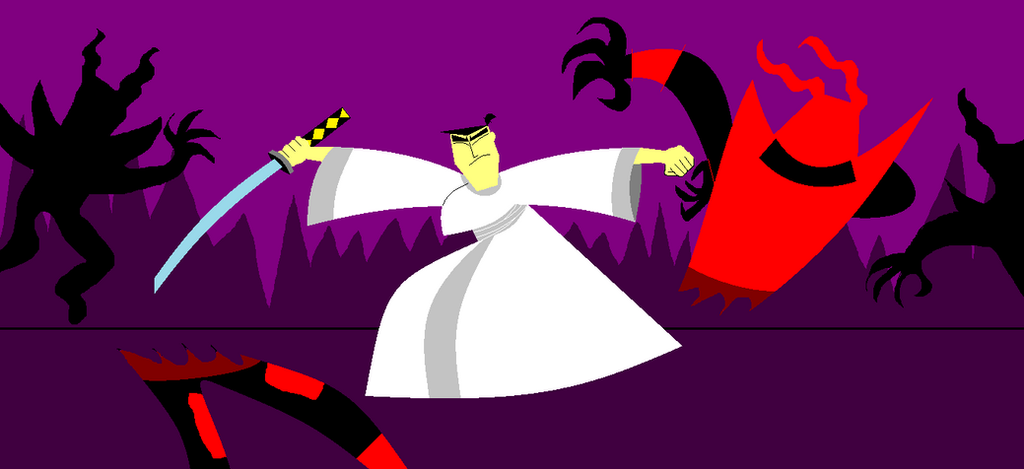 Jack vs. Aku's Minions by ShotgunDude