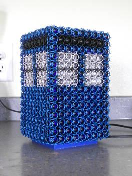 Chainmail TARDIS Lamp