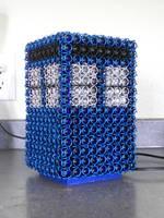 Chainmail TARDIS Lamp by Telperinon