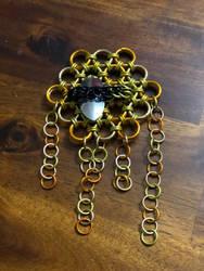 Honey-Bee and honey-comb ornament