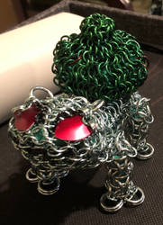 Work In Progess: chainmaille bulbasaur