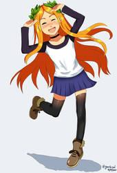 Minerva beign happy