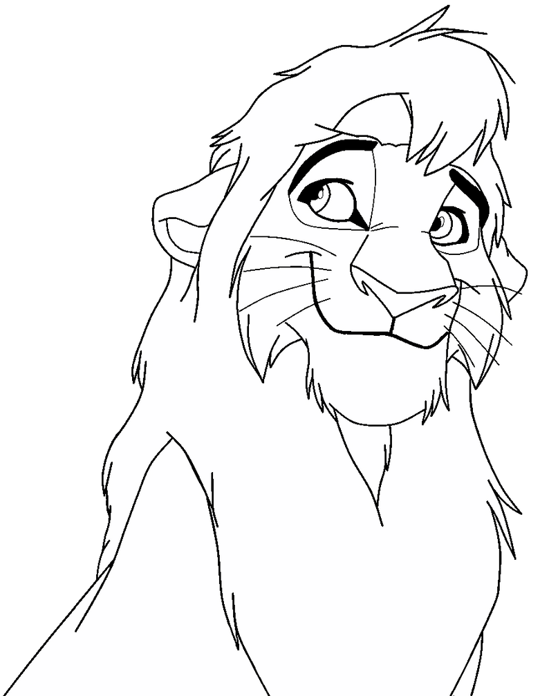 The gallery for kiara and kovu coloring pages for Lion king kiara coloring pages
