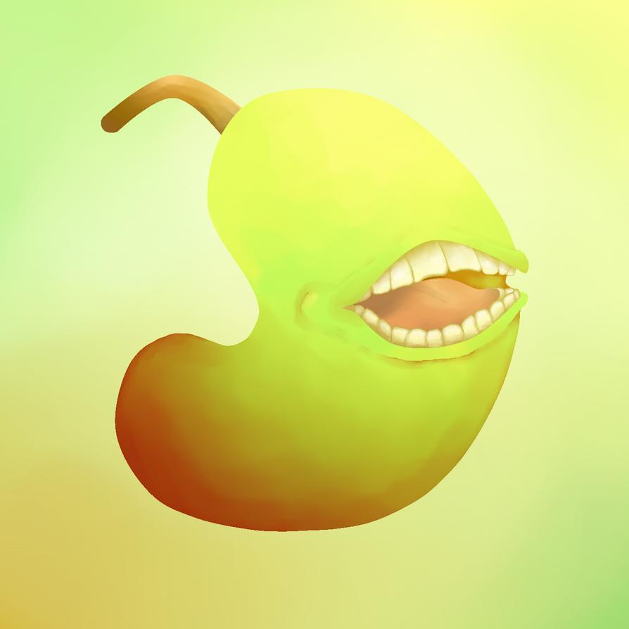 Pear by Okamiderp