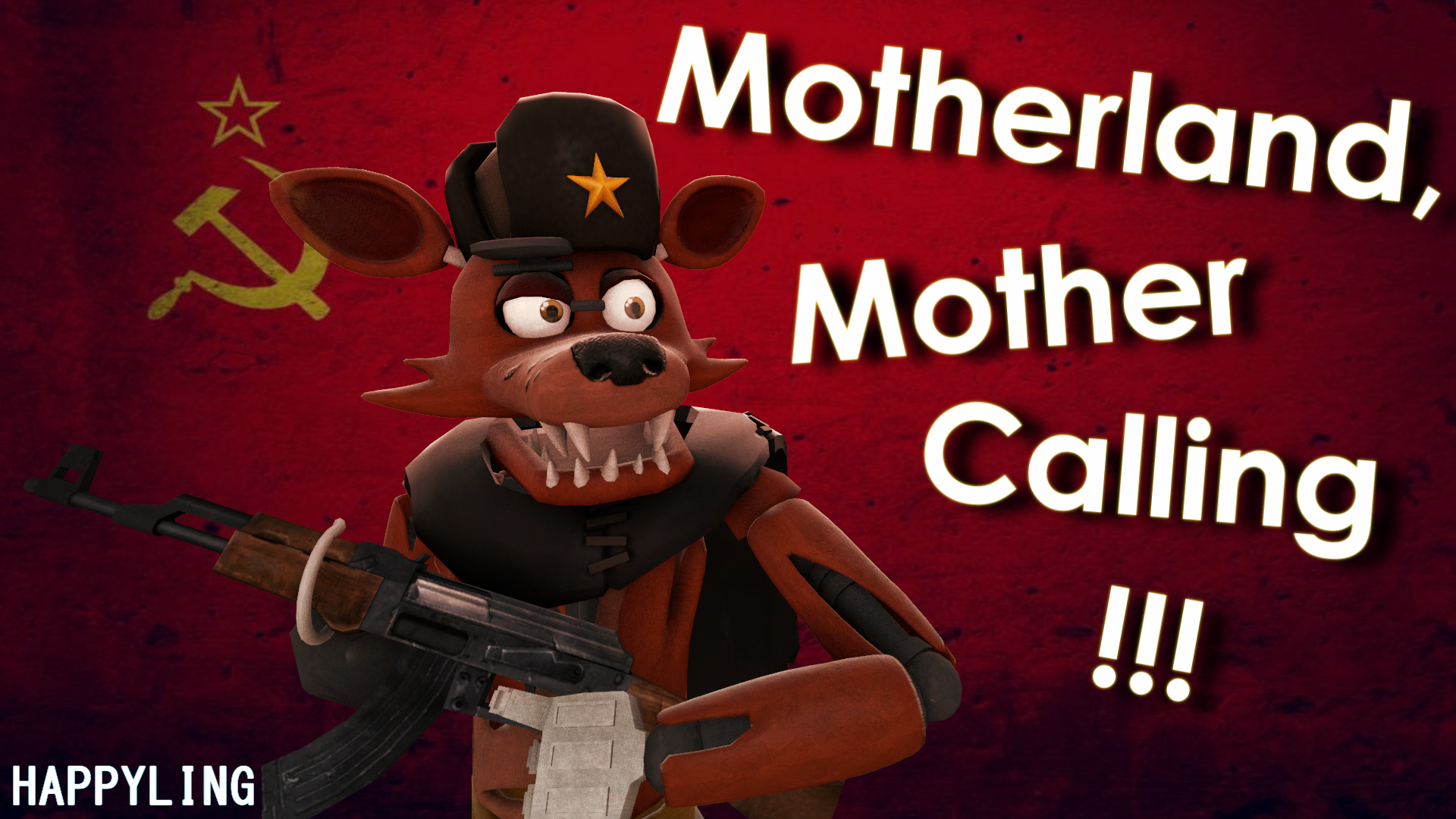 sfm fnaf foxy soviet patriot by happyling on deviantart