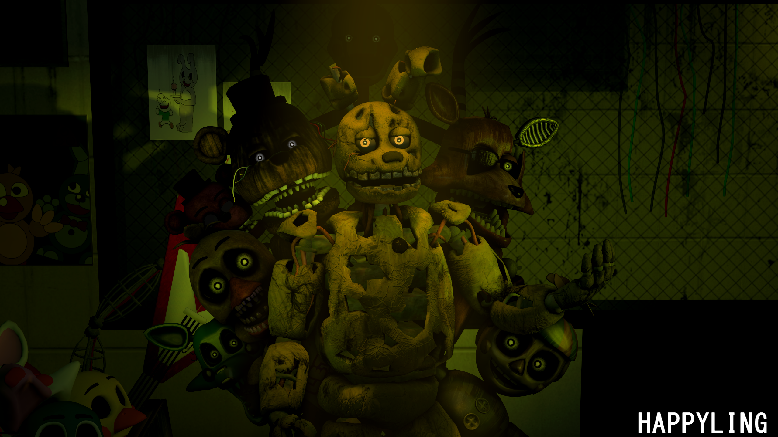 Sfm Fnaf Five Nights At Freddy S 3 By Happyling On