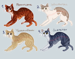 [CLOSED] Warrior Cats Point Adoptables Batch 4