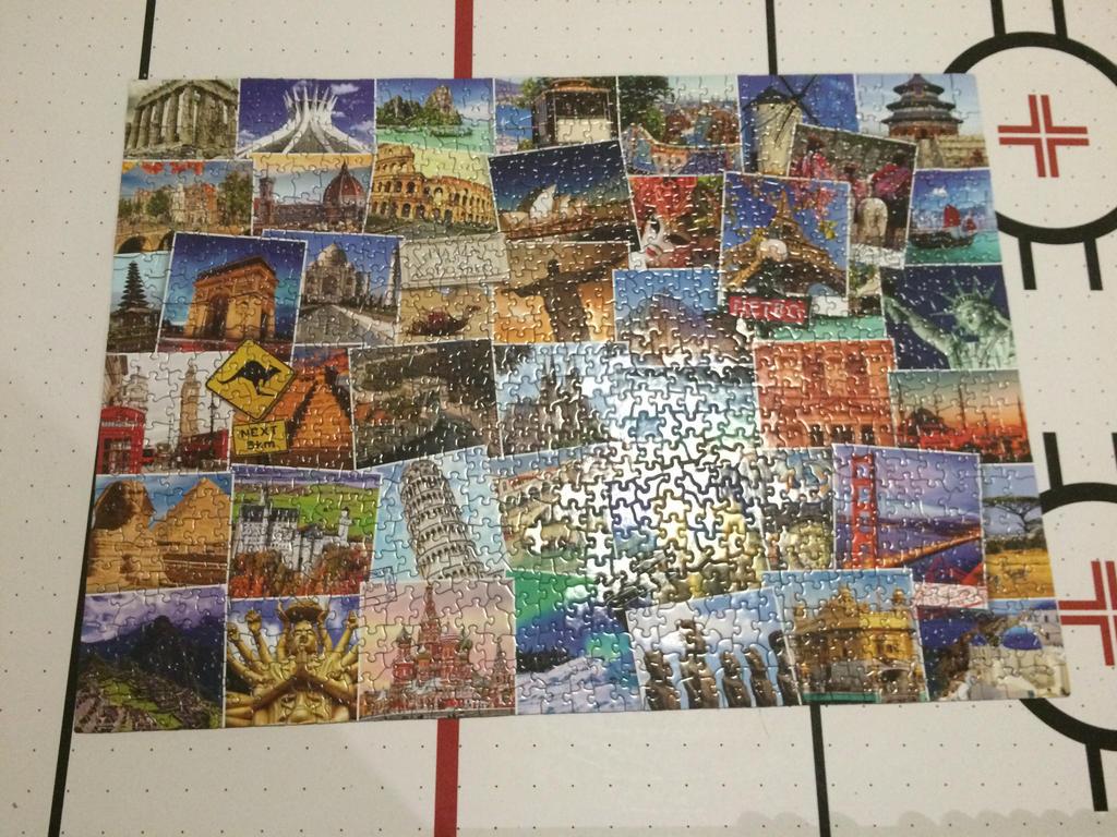 1000 p. - Globetrotter (World) Puzzle by DaBonBonFandomizer