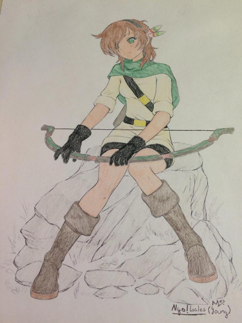 []Hetalia[] (Young) Nyo!/Fem! Wales : Archery by DaBonBonFandomizer