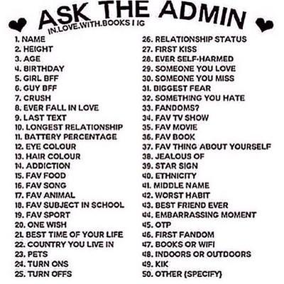 Ask The Admin!!! by DaBonBonFandomizer