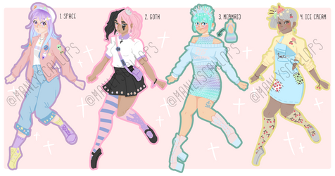 Pastel Adopts $6/600pts each {OPEN} by manlyscallop