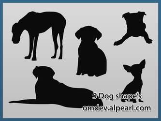 5 dog shape's