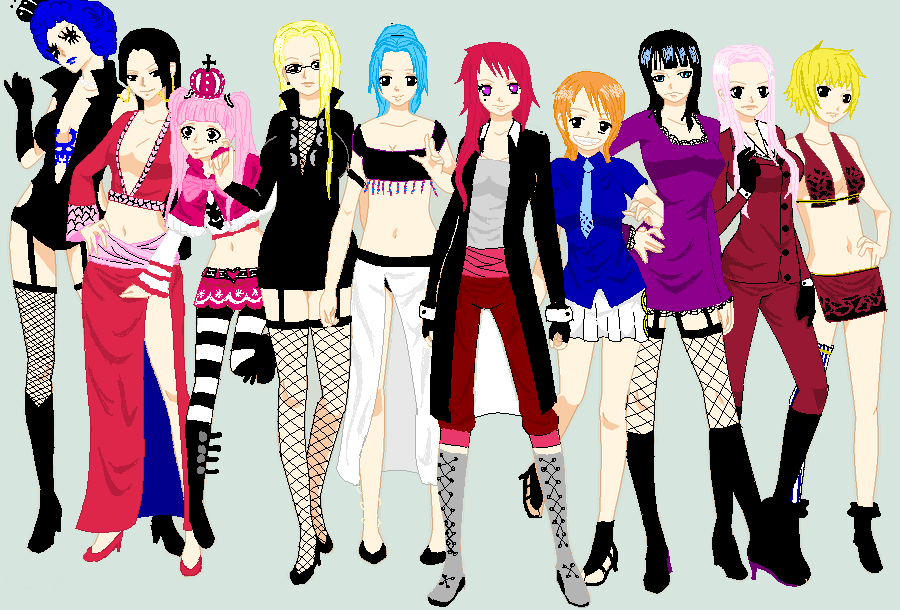 Anime Characters One Piece : One piece girls by cinkltuoderschvank on deviantart