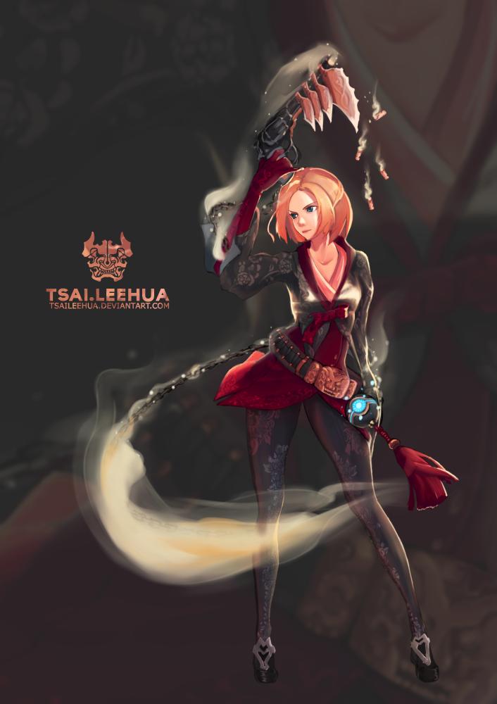 002 M/F Dungeon Fighter Female Gunner by tsaileehua