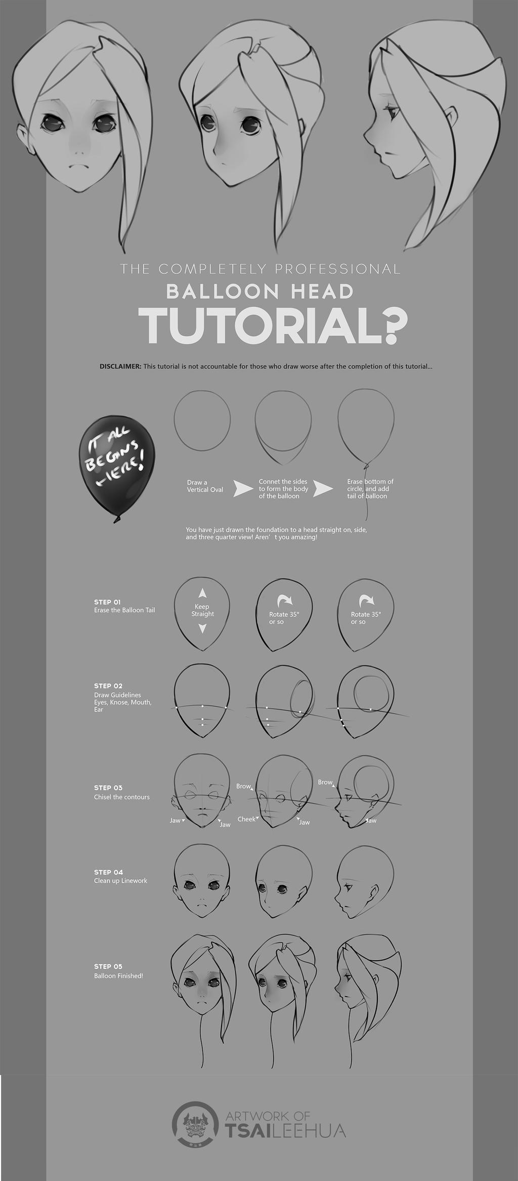 Balloon Head Tutorial by tsaileehua