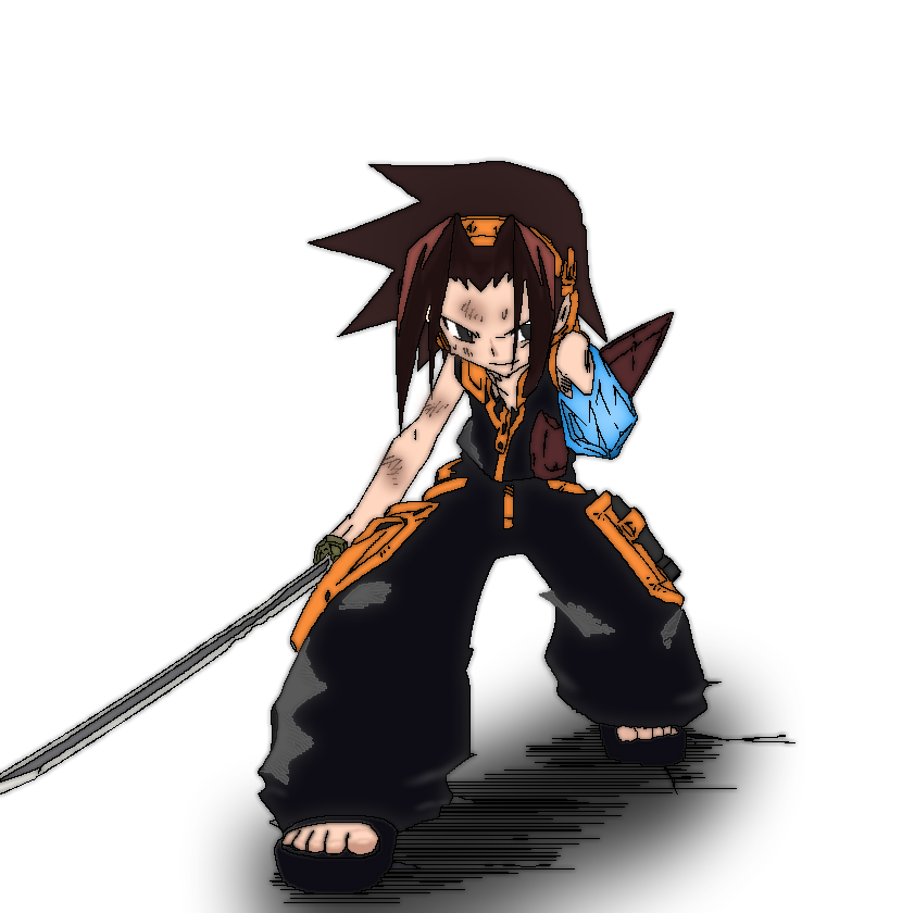 Yoh Asakura (Left arm frozen) by albertoha94