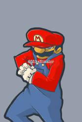 Badass Mario Colored