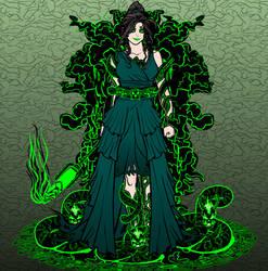Dr. Amanda Peterson  aka The Emerald Sorceress by Xinmodic