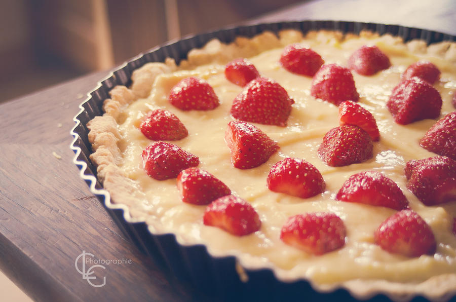 Tarte Vanille/Fraise - Strawberry Pie by *ClaraLG