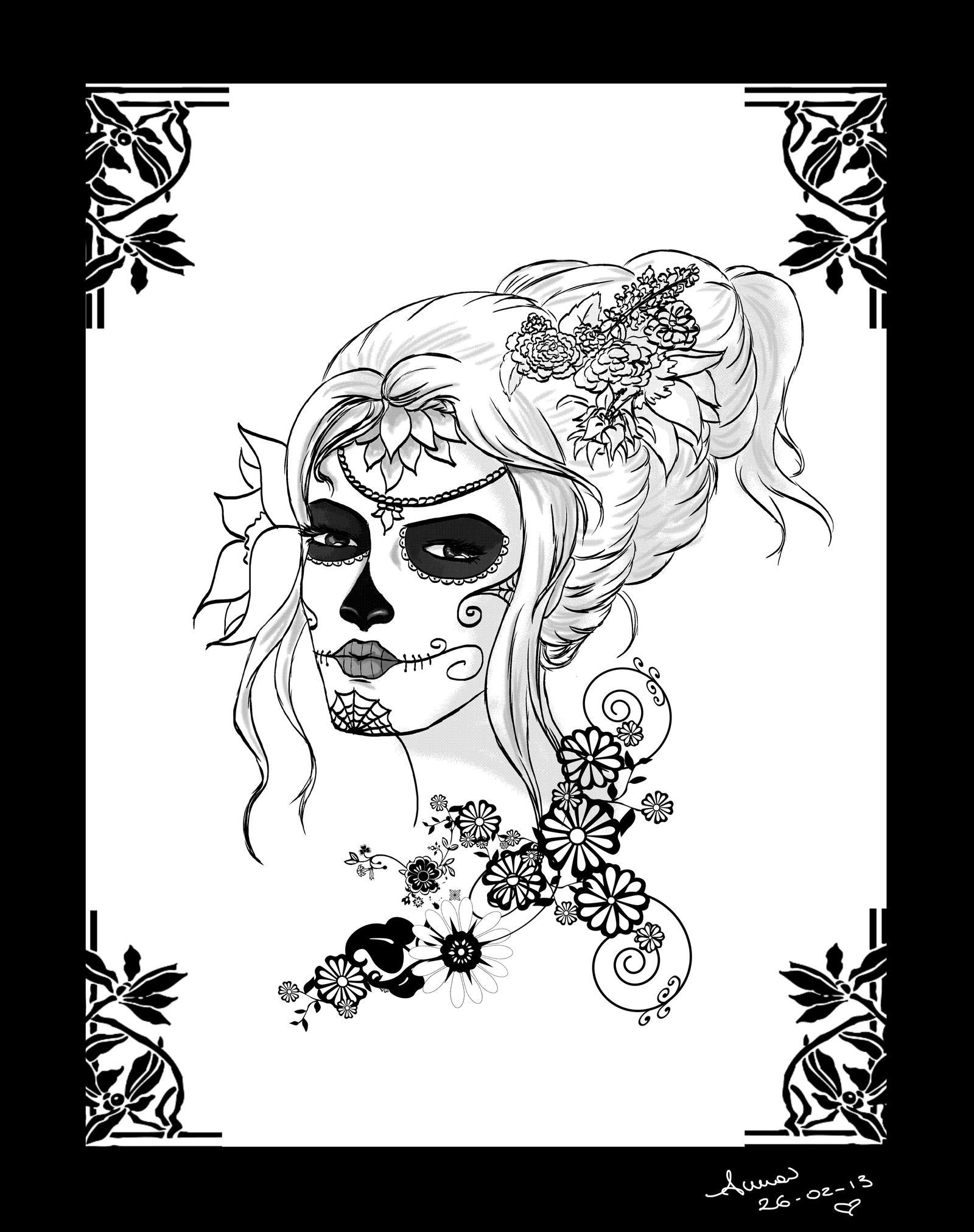 Female Skull Outline Www Imagessure Com