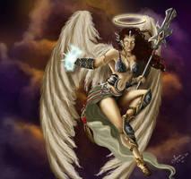 Warrior Angel - Magic The Gathering Fan Art by annaluci