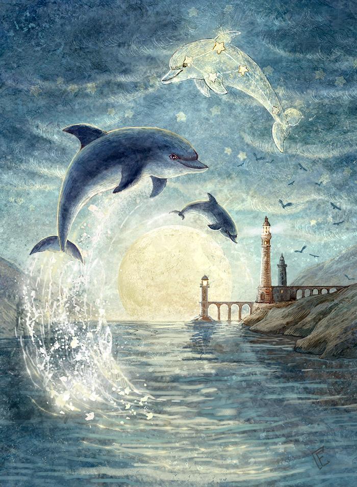 Constellation Dolphin by ArtGalla