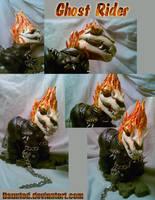 Ghost Rider MLP Ooak custom by daunted
