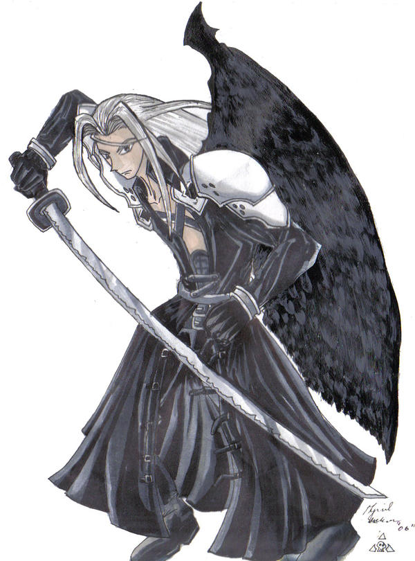 Sephiroth Wing Old Style Sephiroth by...