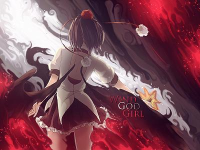 Aya Shameimaru 'Wind God Girl' Smudge Tag by HirosamaFX