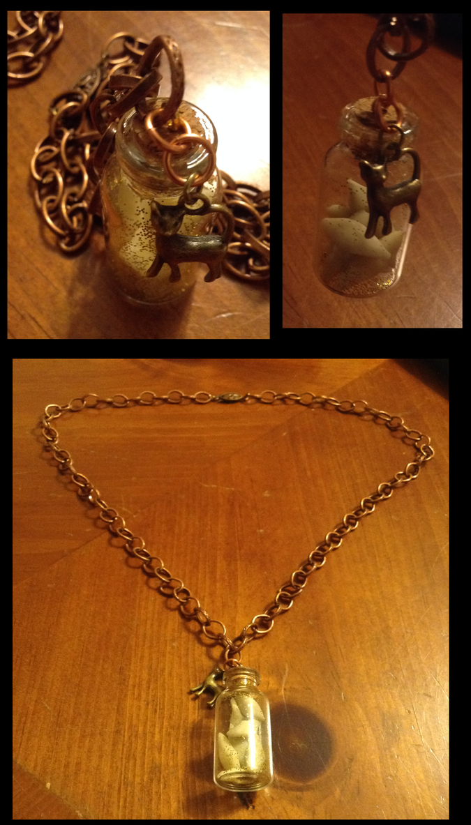 Steampunk Necklace View One by BlackStray