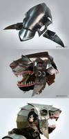 Stormvermin mask with helmet, skaven.