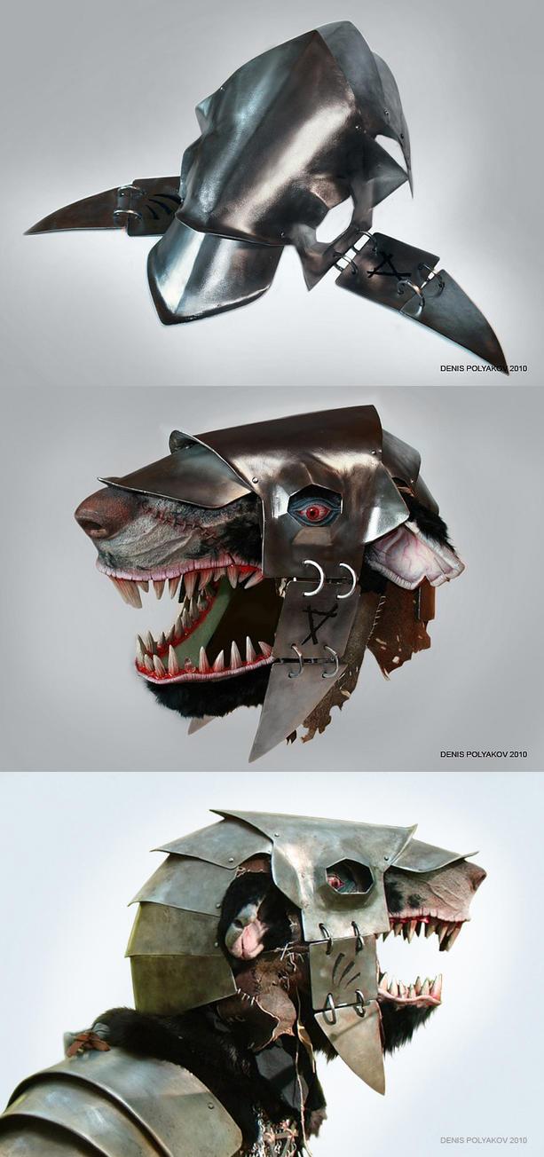Stormvermin mask with helmet, skaven. by DenisPolyakov