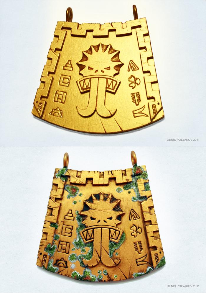Lizardmen Skink Priests chest plate. by DenisPolyakov