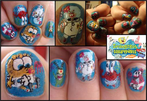 spongebob nails 2