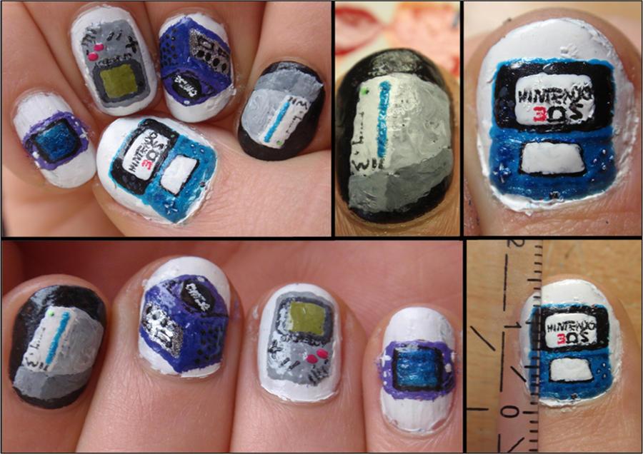 nintendo nails by Ninails on DeviantArt