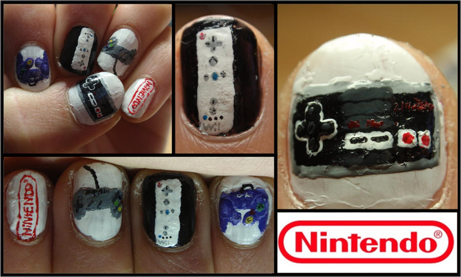 nintendo controller nails by Ninails on DeviantArt