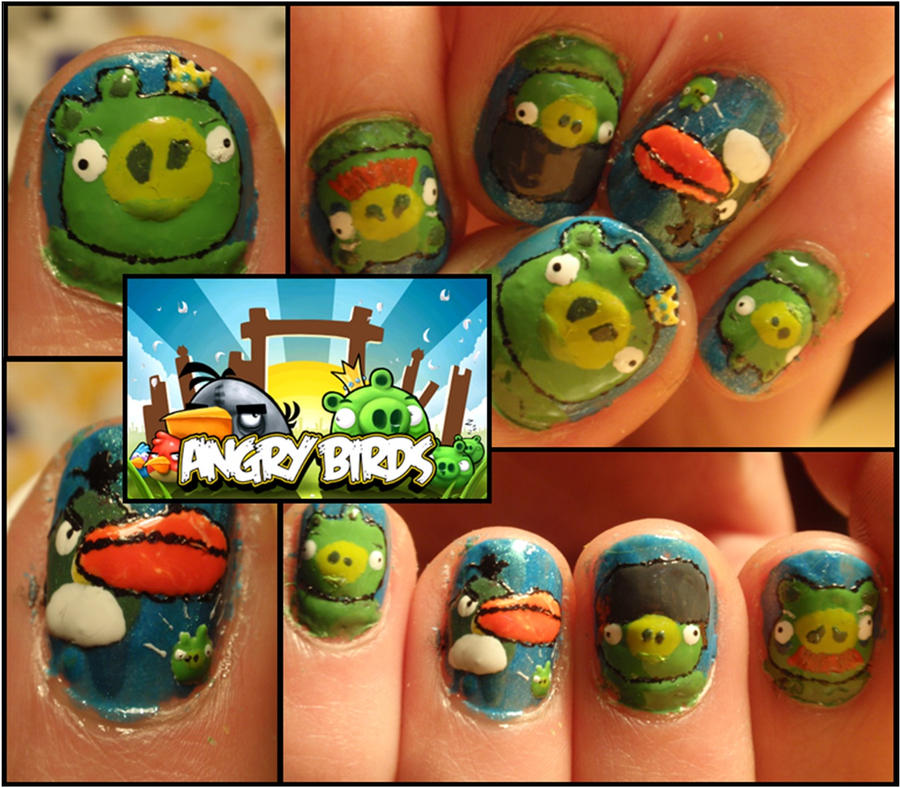 angry birds nails 2 by Ninails on DeviantArt